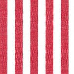 "Berry Red Stripe Fabric: 1/4"" Stripe 