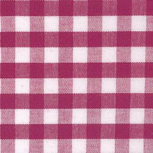 "Magenta Gingham Fabric: 1/4"" Check | Magenta Fabric"