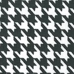 Black and White Houndstooth Fabric | Black Houndstooth Fabric