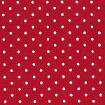 Small White Dots on Red - Pique #175 | Cotton Pique Fabric Wholesale