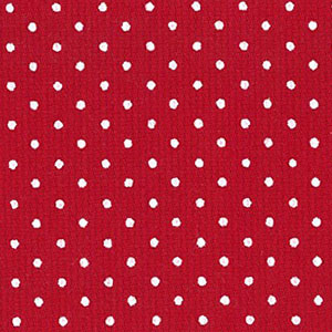 Small White Dots on Red - Pique #175   Cotton Pique Fabric Wholesale