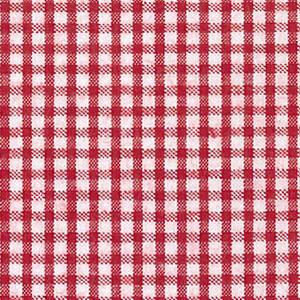 Red Seersucker Fabric: 100% Cotton | Check Seersucker Fabric