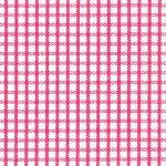 Windowpane Check Fabric - Raspberry | Raspberry Gingham Fabric