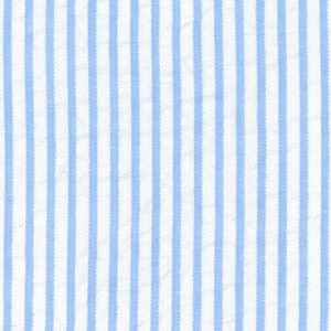 Blue Striped Seersucker Fabric - #7 | Blue Seersucker Fabric