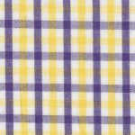 Purple and Gold Gingham Fabric