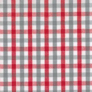 Red and Grey Check Fabric - T/18 | Red and Grey Fabric