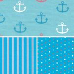 Nautical Themed Fabric - Coordinating Prints | Anchor Print Fabric