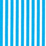 "Turquoise Stripe Fabric: 1/8"" Width 
