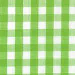 "Lime Green Gingham Fabric - Bright Lime - 1/4"" Check 