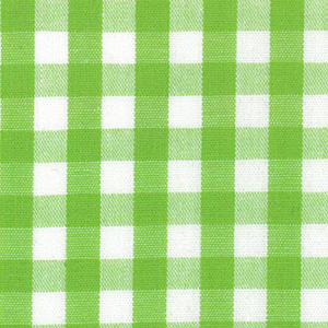 """Lime Green Gingham Fabric - Bright Lime - 1/4"""" Check 