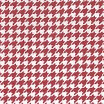 Red Houndstooth Fabric | Small Houndstooth Fabric - 100% Cotton