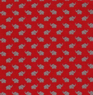 Gray Elephant Fabric - 100% Cotton | Baby Elephant Fabric