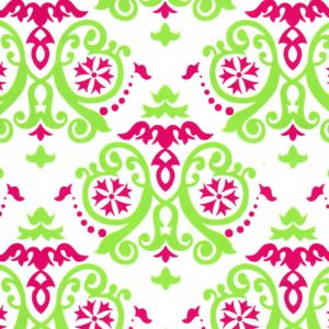 1893 - Raspberry and Lime Geometric Fabric - White Background