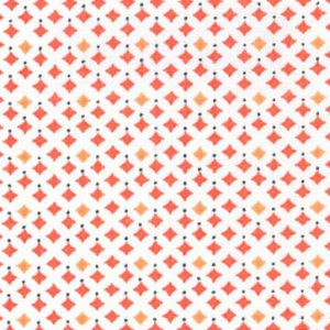 1901-Diamond Pattern Fabric-Wholesale Cotton Fabric - Coral Diamonds