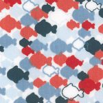 1905 - Fish Print Fabric - Wholesale Cotton Fabric