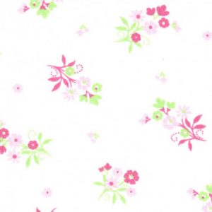 Pink and Green Floral Fabric - 100% Cotton | Wholesale Floral Fabric