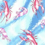 Wholesale Cotton Fabric - Crawfish Fabric -1910
