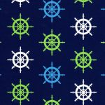 Ships Wheel Fabric - Nautical Fabric Prints - Print 1912