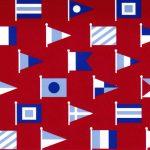 Nautical Flag Fabric - Nautical Print Fabric - 1914