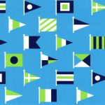 Nautical Flag Fabric - Nautical Print Fabric - 1915