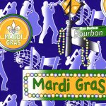 Mardi Gras Fabric - Wholesale Cotton Fabric - 1916