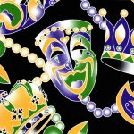 Mardi Gras Fabric - Wholesale Cotton Fabric -1921