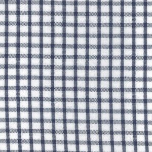Windowpane Check Fabric: Navy | Seersucker Fabric Wholesale