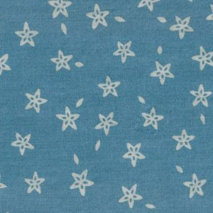 Star Denim Fabric | Printed Denim Fabric - 100% Cotton Fabric