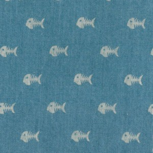 Printed Denim Fabric - Bonefish | Wholesale Denim Fabric - 100% Cotton