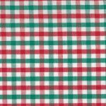 Red and Green Check Fabric - T11 | Red and Green Gingham Fabric
