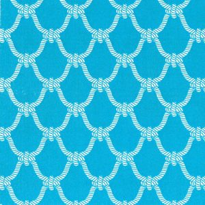 Nautical Rope Fabric | Nautical Theme Fabric - Turquoise