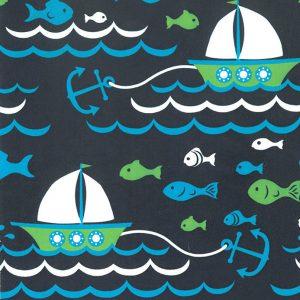Sailboat Fabric | Nautical Theme Fabric #1927