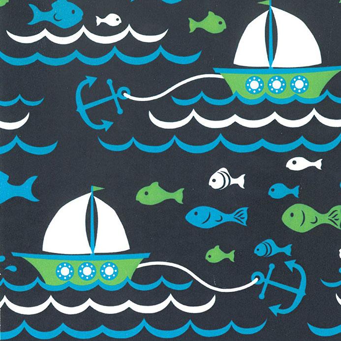 Sailboat Fabric 100 Cotton Nautical Theme Fabric