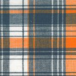 Madras Plaid Fabric - Orange and Blue | Madras Fabric Wholesale