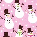 Snowman Print Fabric | Christmas Cotton Fabric - Print #1954