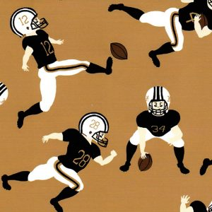 Football Player Fabric - Bronze & Black | Football Fabric Cotton