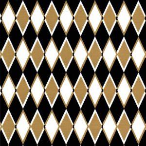 Diamond Pattern Fabric: Black & Bronze | Diamond Print Fabric