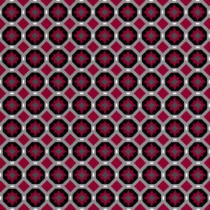 Grey and Red Geometric Fabric - Compass | Red and Grey Fabric