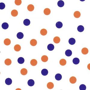 Purple and Orange Dots Fabric | Purple and Orange Fabric - Print #1969