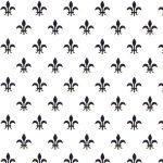 Black Fleur De Lis Fabric | Fleur De Lis Fabric - Print #1978