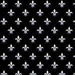 White Fleur De Lis Fabric | Fleur De LIs Fabric - Print #1979