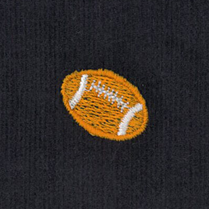 Embroidered Corduroy Fabric - Football | Football Fabric