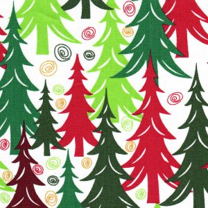 Christmas Tree Fabric - Print #1893 | Christmas Fabric Wholesale