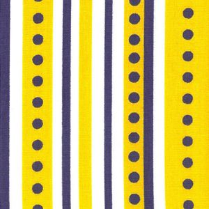 Purple and Gold Fabric - Stripes/Dots: 100% Cotton | Gold and Purple Fabric