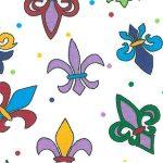 Multicolored Fleur-de-lis