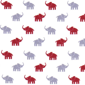 Red and Gray Elephant Fabric | Red Elephant Fabric