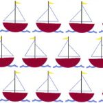 Red Sailboat Fabric | Sailboat Fabric | Nautical Baby Fabric