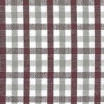Grey and Maroon Check Fabric | Gingham Check Fabric