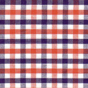 Purple and Orange Check Fabric | Orange and Purple Fabric - #T98