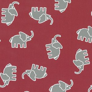 Grey Elephant Fabric | Elephant Print Material - 100% Cotton